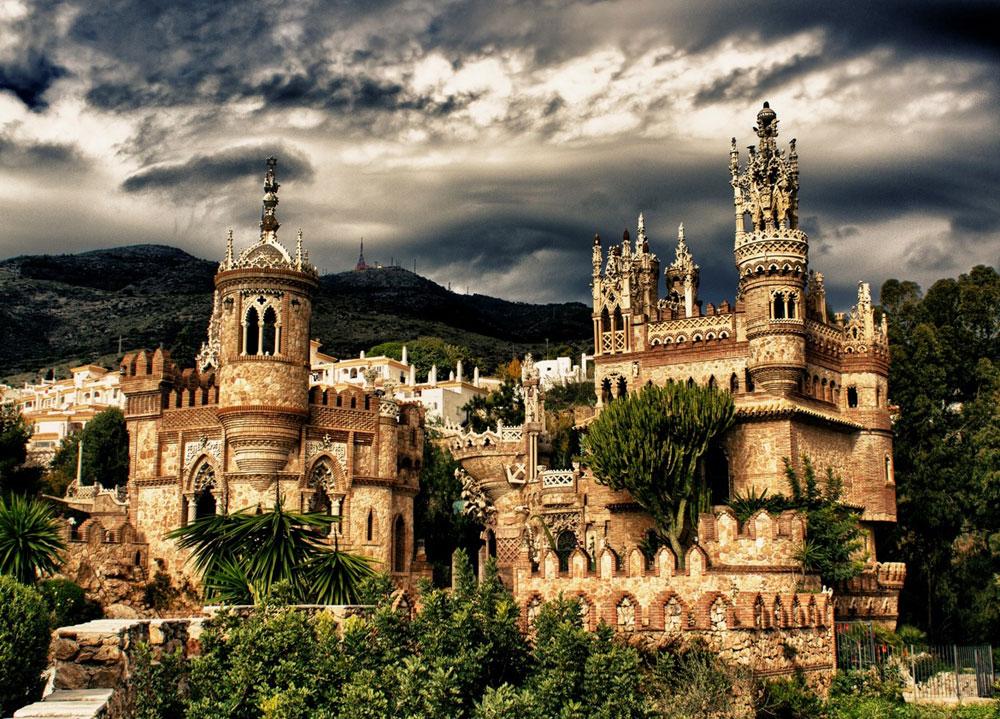 Immagine del castello di Colomares in Spagna