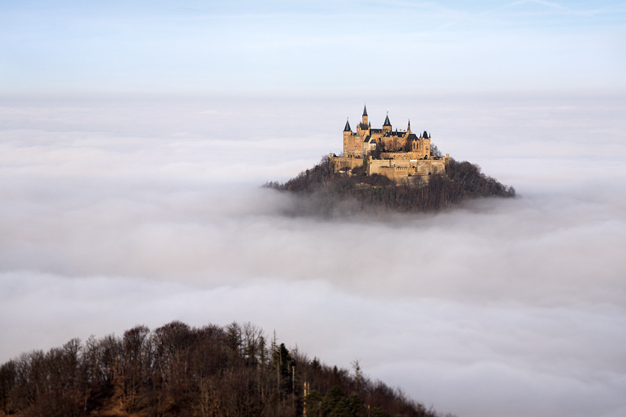 Immagine del castello di Hohenzollern in Germania