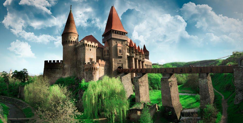 Immagine del castello Hunyad in Romania