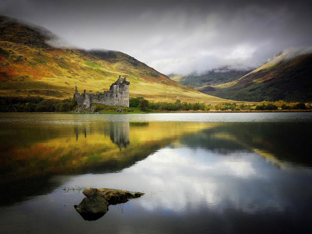 Immagine del castello di Kilchurn in Scozia
