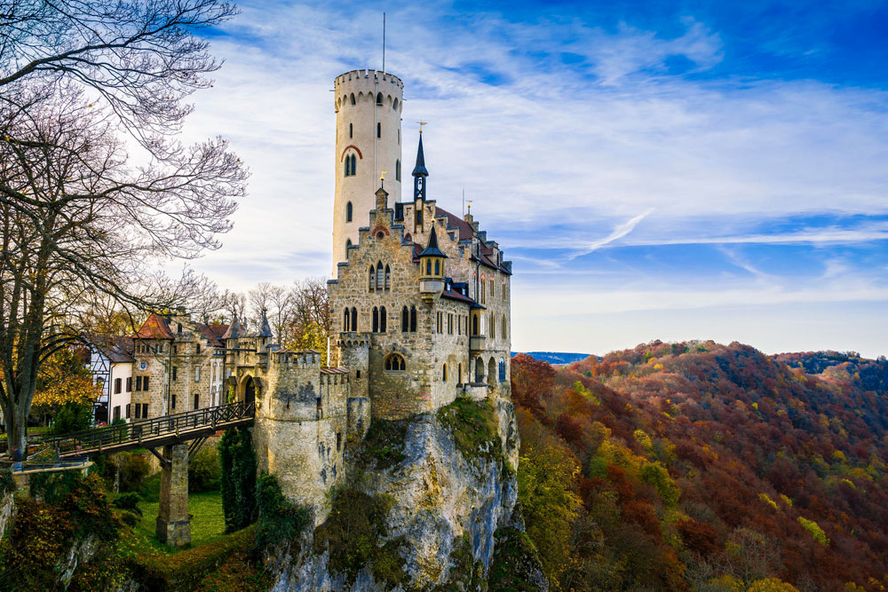 Immagine del castello di Lichtenstein in Germania