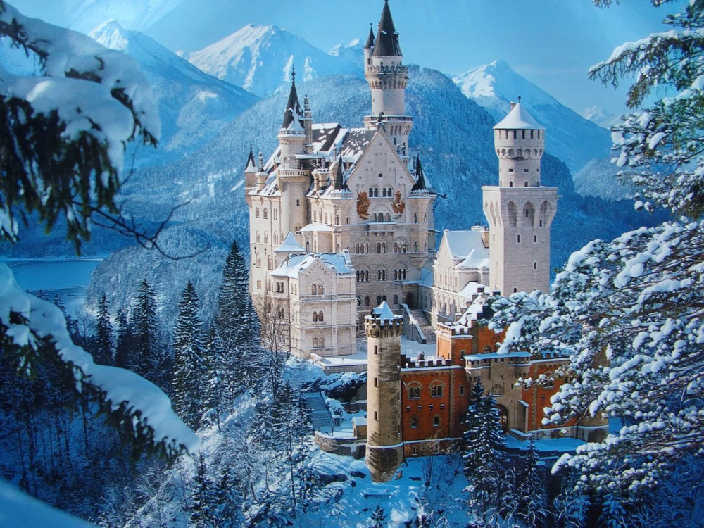 Immagine del castello di Neuschwanstein in Germania