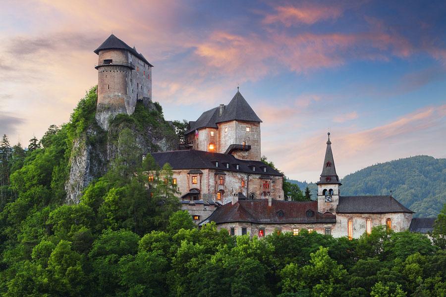 Immagine del castello di Orava in Slovacchia