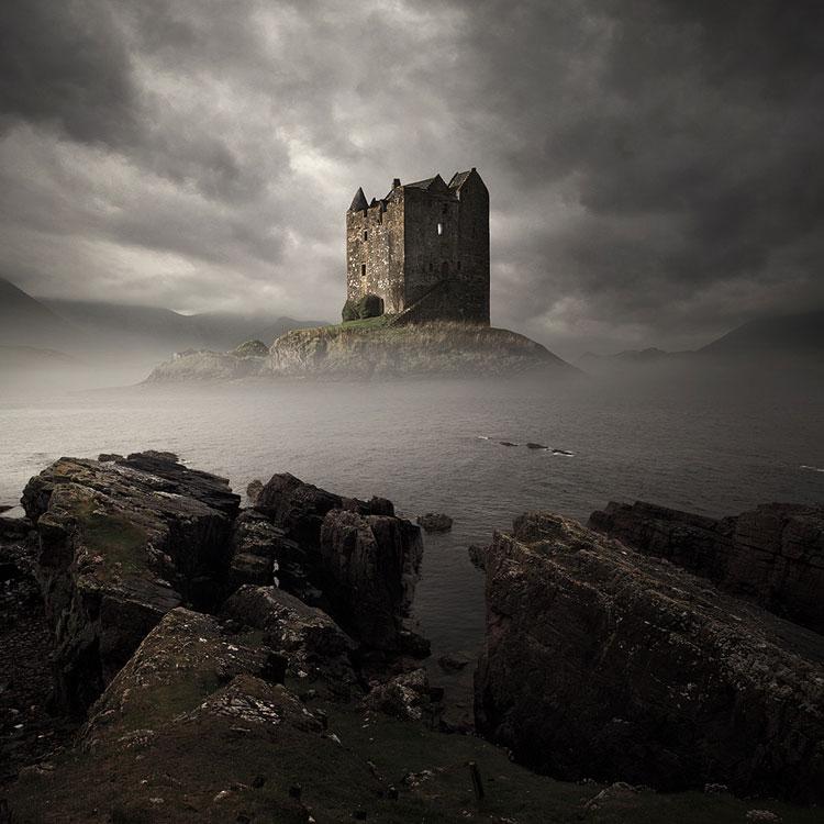 Immagine del castello di Stalker  in Scozia