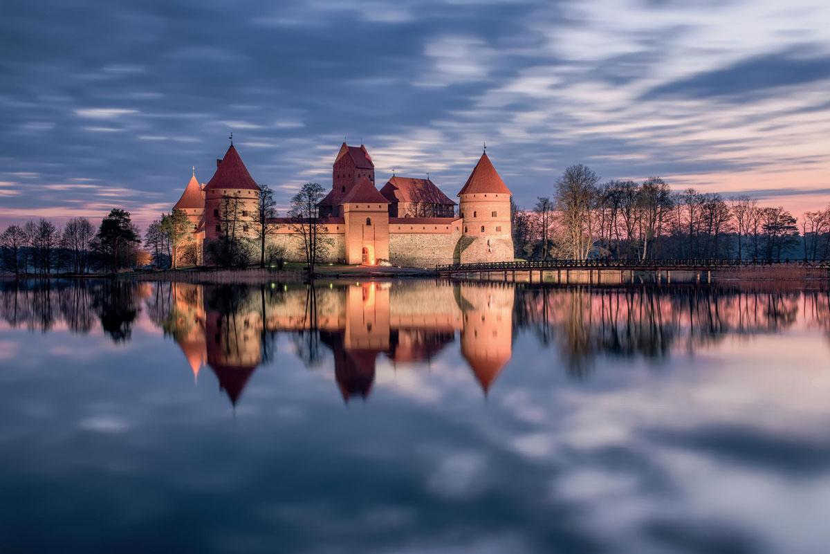 Immagine del castello di Trakai in Lituania