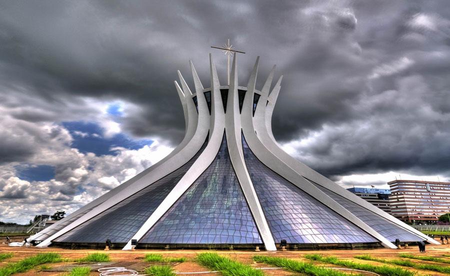 Foto della cattedrale di Brasilia in Brasile