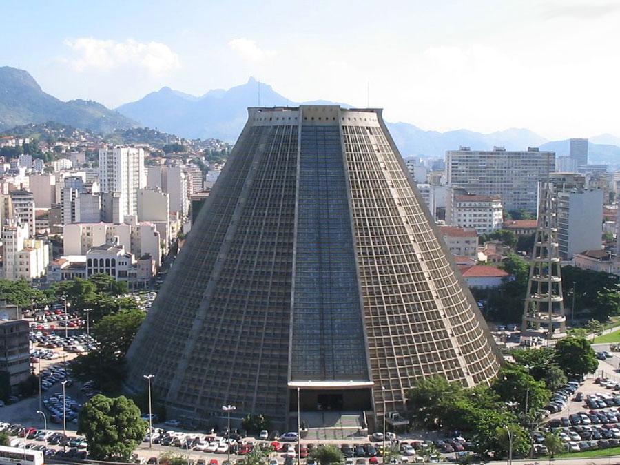 Foto della cattedrale di Rio de Janeiro in Brasile
