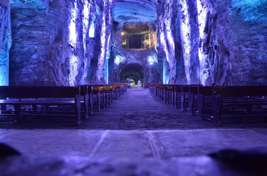 Foto della cattedrale di Sale in Colombia