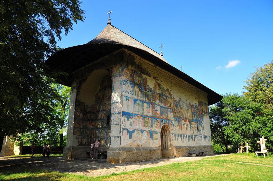 Foto della chiesa di Arbore in Romania