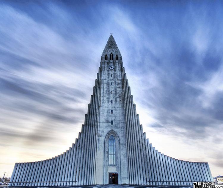 Foto della chiesa di Hallgrimur in Islanda