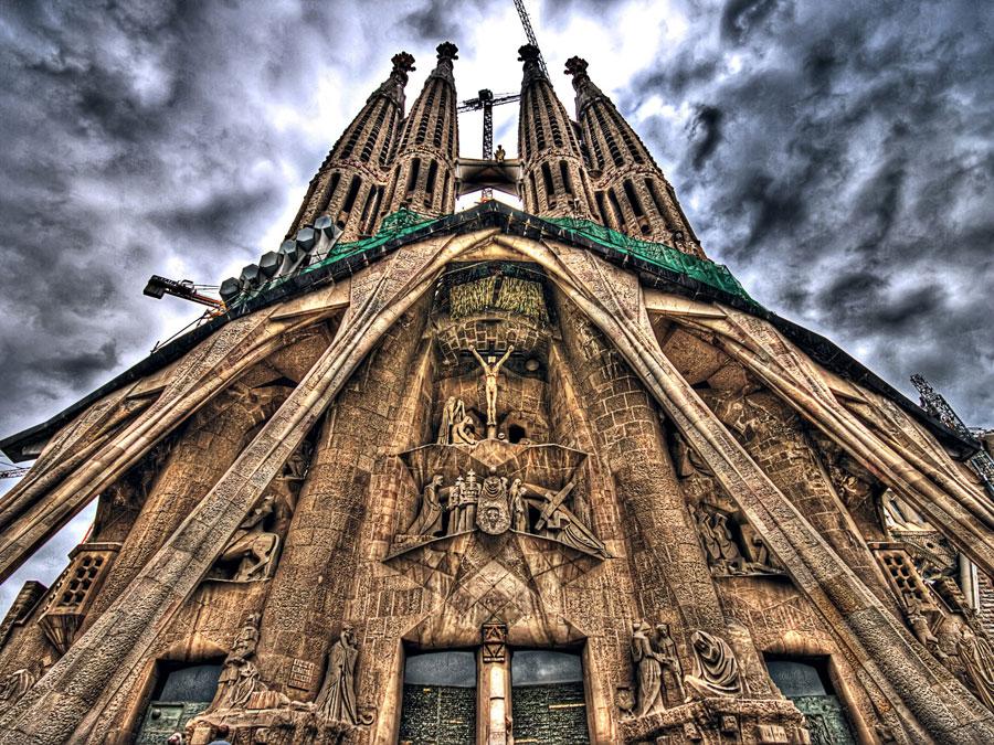 Foto della chiesa Sagrada Familia a Barcellona