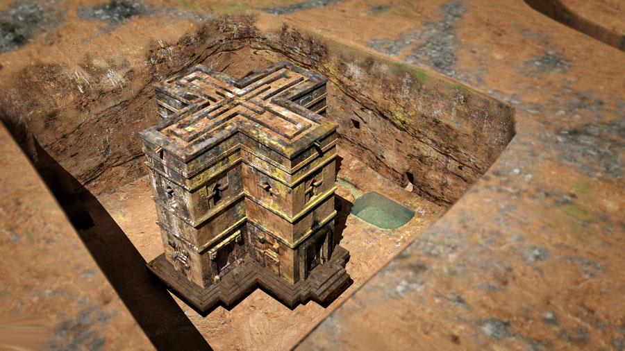 Foto della chiesa di San Giorgio in Etiopia