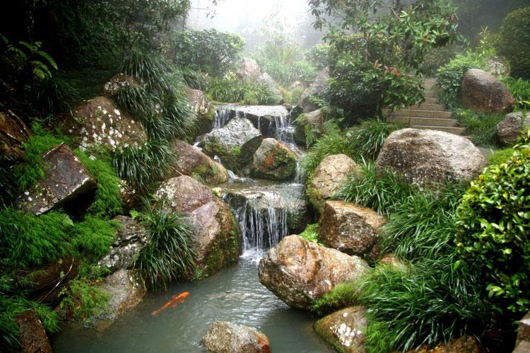 Foto del giardino zen in stile giapponese n.03