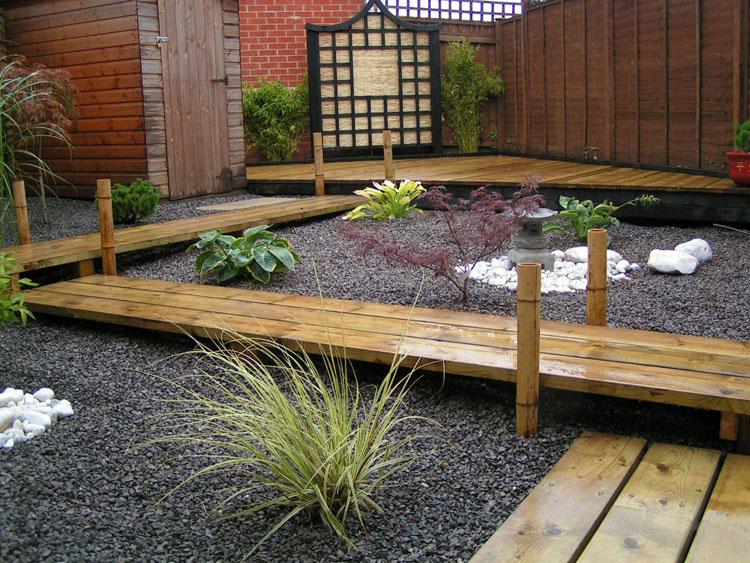Foto del giardino zen in stile giapponese n.05