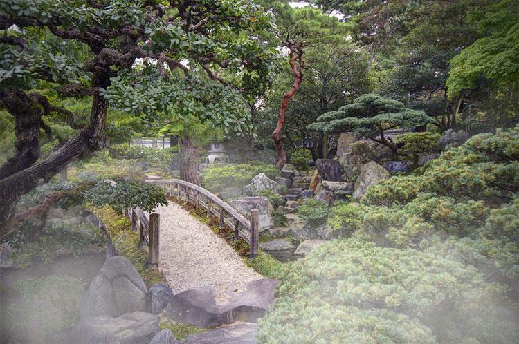Foto del giardino zen in stile giapponese n.07