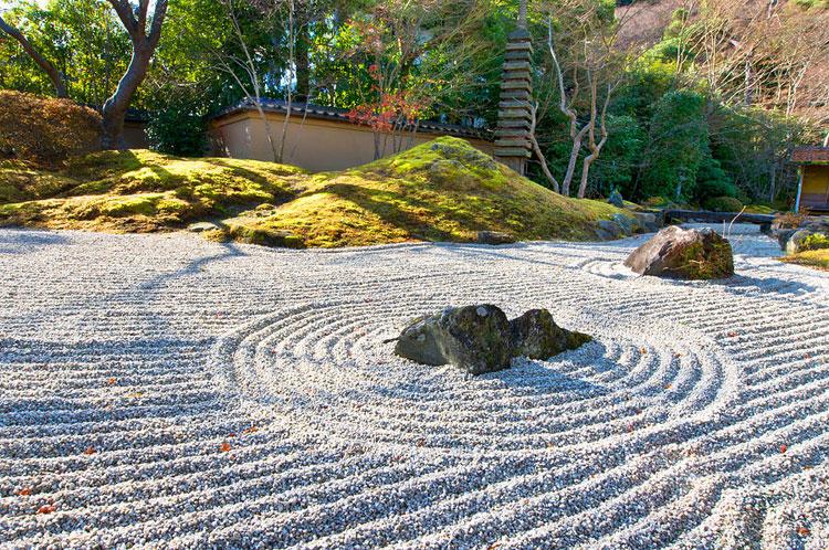 Foto del giardino zen in stile giapponese n.17