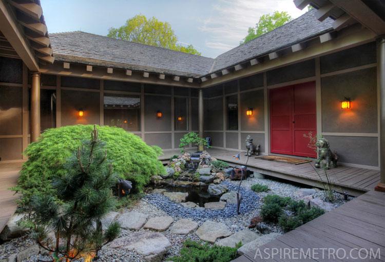 Foto del giardino zen in stile giapponese n.18