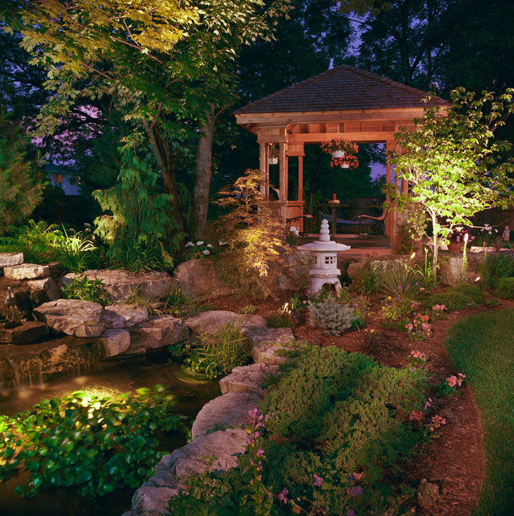 Foto del giardino zen in stile giapponese n.19