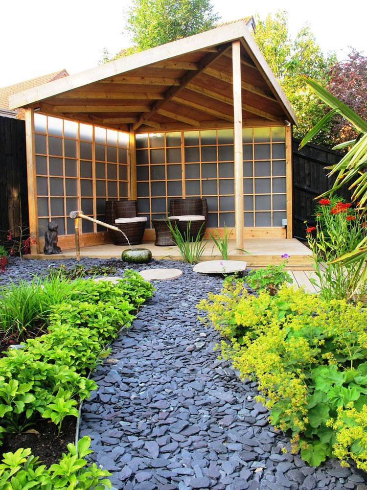Foto del giardino zen in stile giapponese n.25