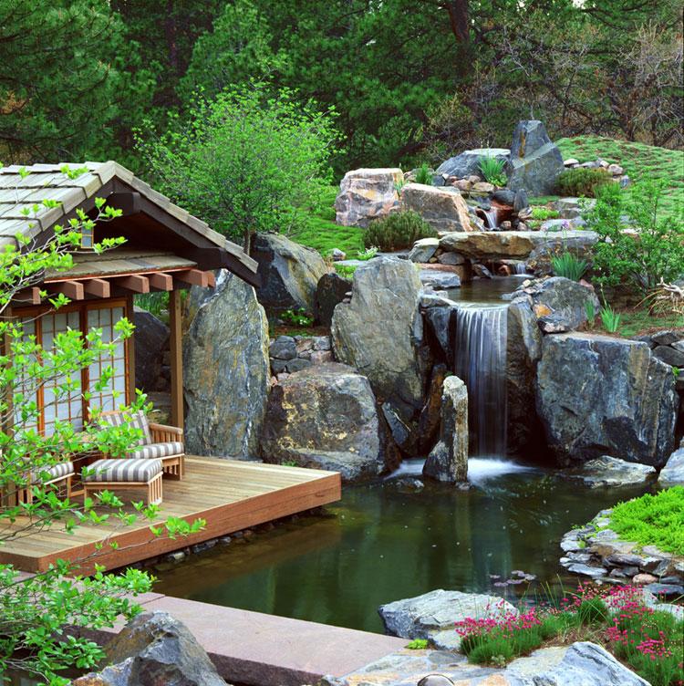 Foto del giardino zen in stile giapponese n.26