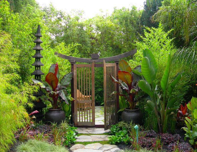 Foto del giardino zen in stile giapponese n.27