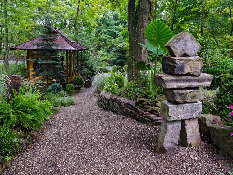 Foto del giardino zen in stile giapponese n.29