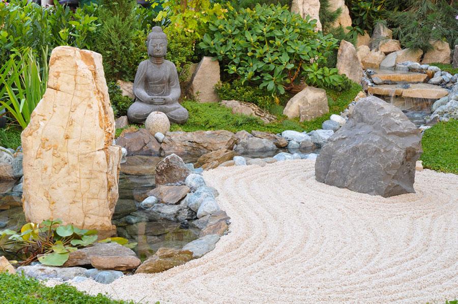 Foto del giardino zen in stile giapponese n.31