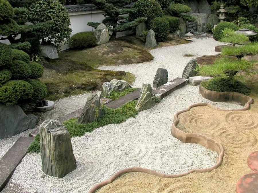 Foto del giardino zen in stile giapponese n.32
