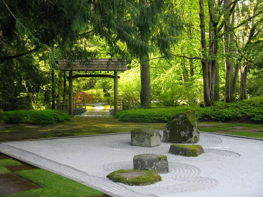 Foto del giardino zen in stile giapponese n.34