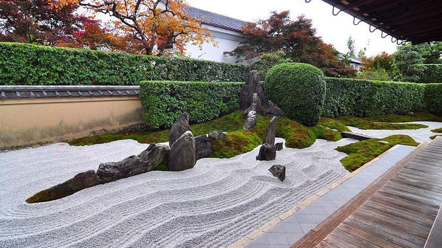 Foto del giardino zen in stile giapponese n.35
