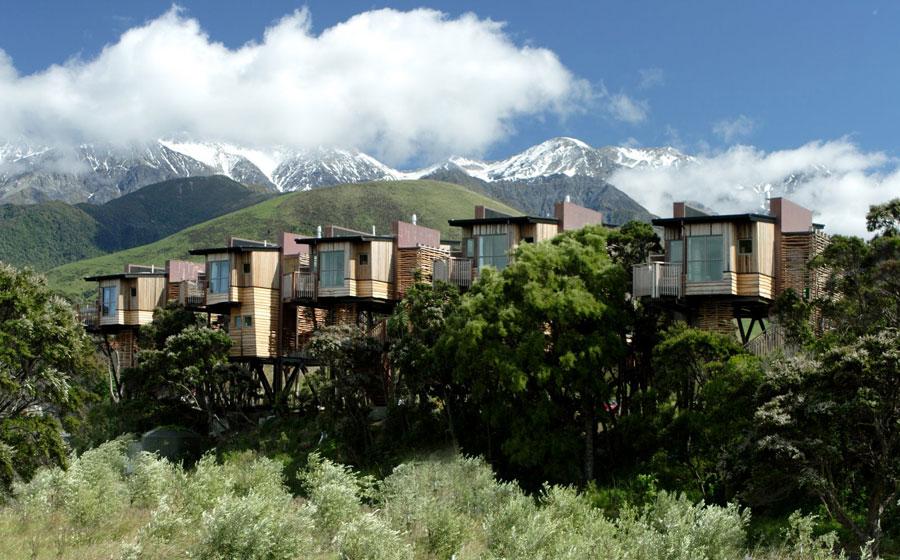 Foto dell'hotel sugli alberi Hapuku Lodge in Nuova Zelanda