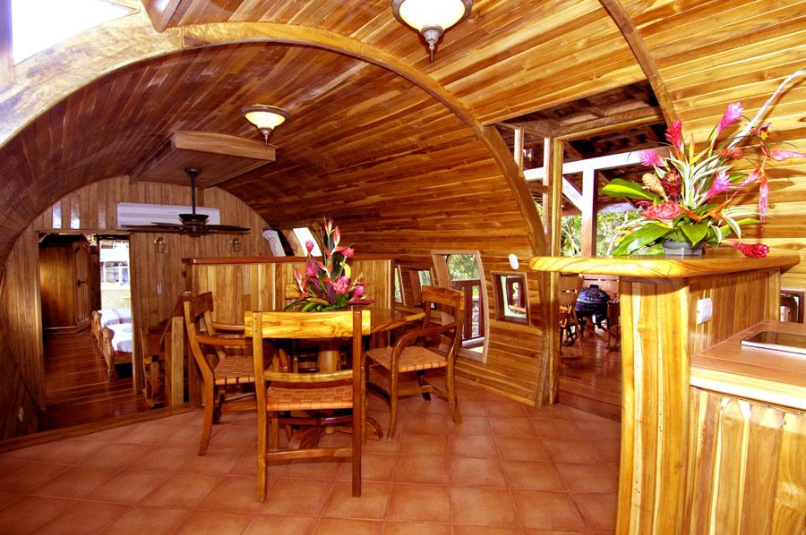 Foto dell'interno dell'hotel Costa Verde in Costa Rica