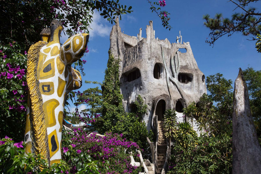 Foto dell'esterno del'hotel Crazy House in Vietnam