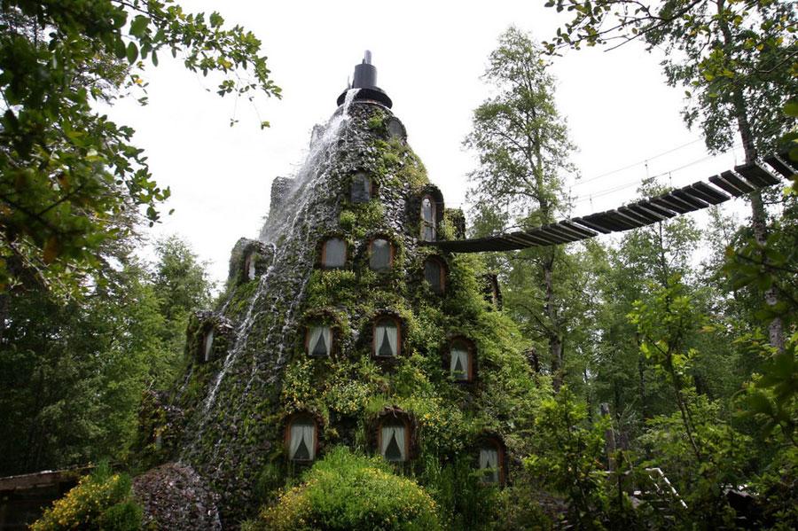 Foto dell'esterno dell'hotel Magic Mountain Lodge in Cile