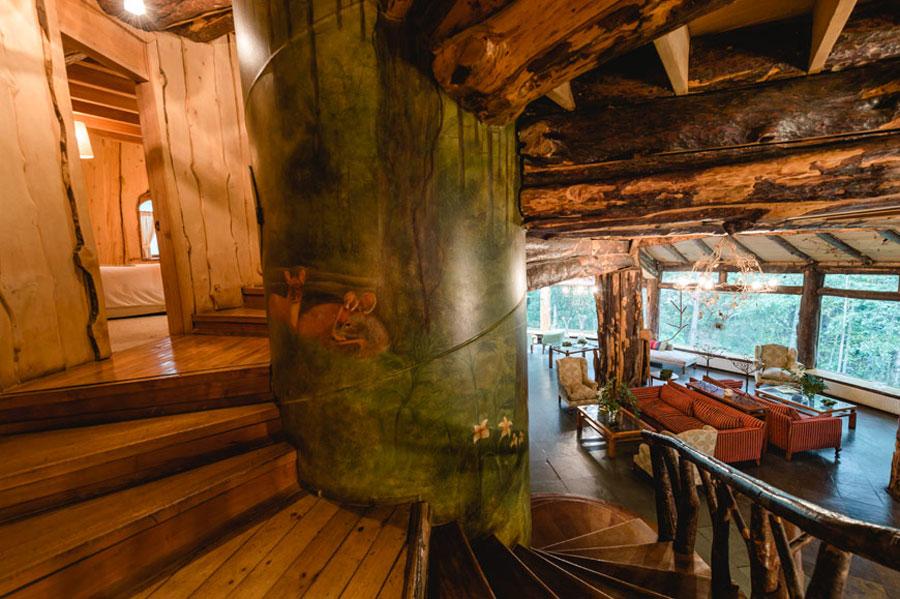 Foto dell'interno dell'hotel Magic Mountain Lodge in Cile