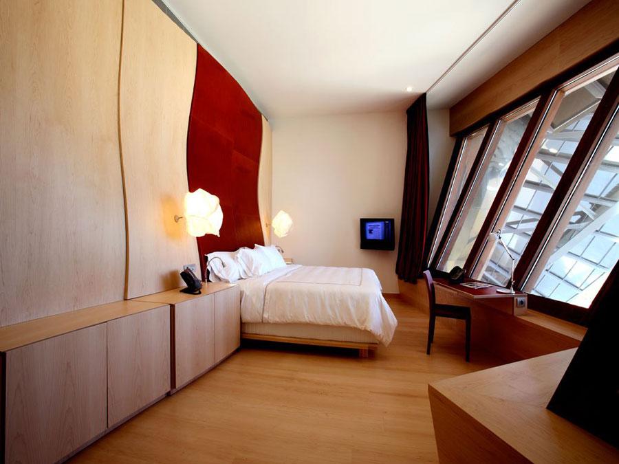 Foto dell'interno dell'hotel Marques de Riscal in Spagna