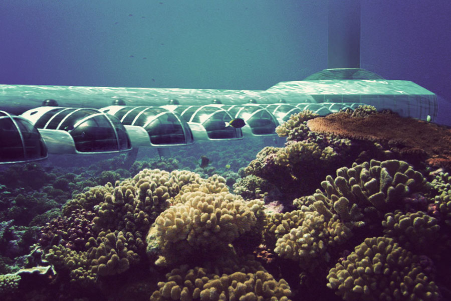 Foto dell'esterno dell'hotel Poseidon Undersea Resort Figi