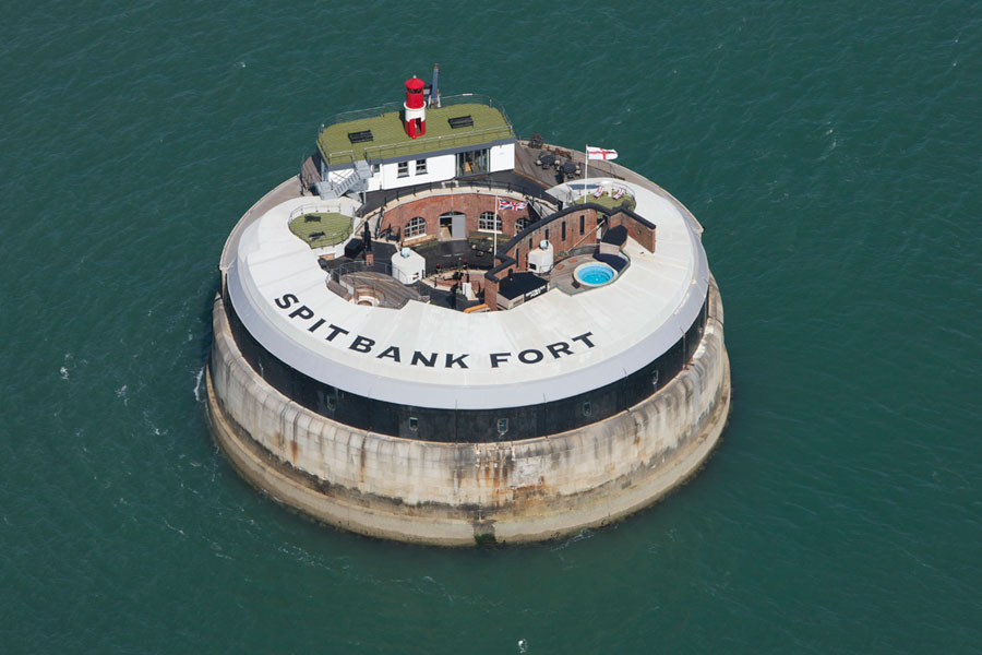 Foto dell'esterno dell'hotel Spitbank Fort in Inghilterra