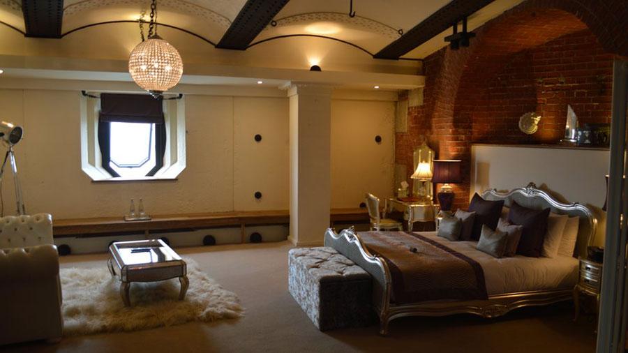 Foto dell'interno dell'hotel Spitbank Fort in Inghilterra