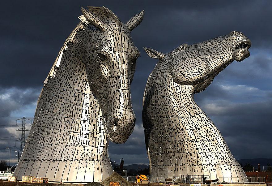 Immagine della scultura Kelpies di Andy Scott