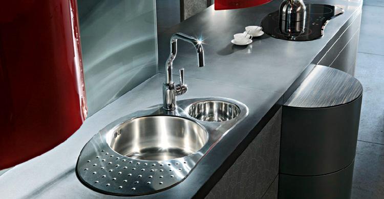 Immagine del lavello da cucina dal design moderno n.01