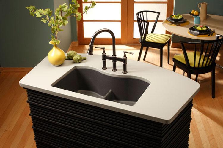 Immagine del lavello da cucina dal design moderno n.09