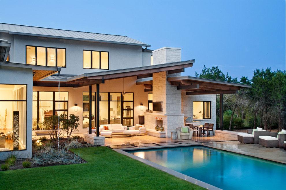 Foto della piscina dal design moderno n.01