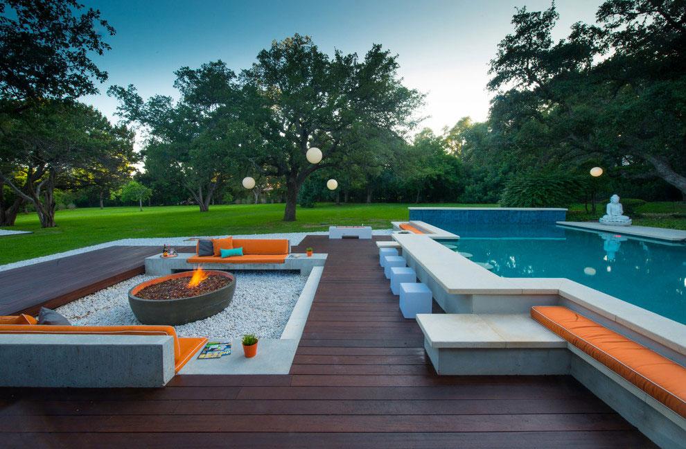 Foto della piscina dal design moderno n.03