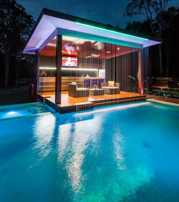 Foto della piscina dal design moderno n.04