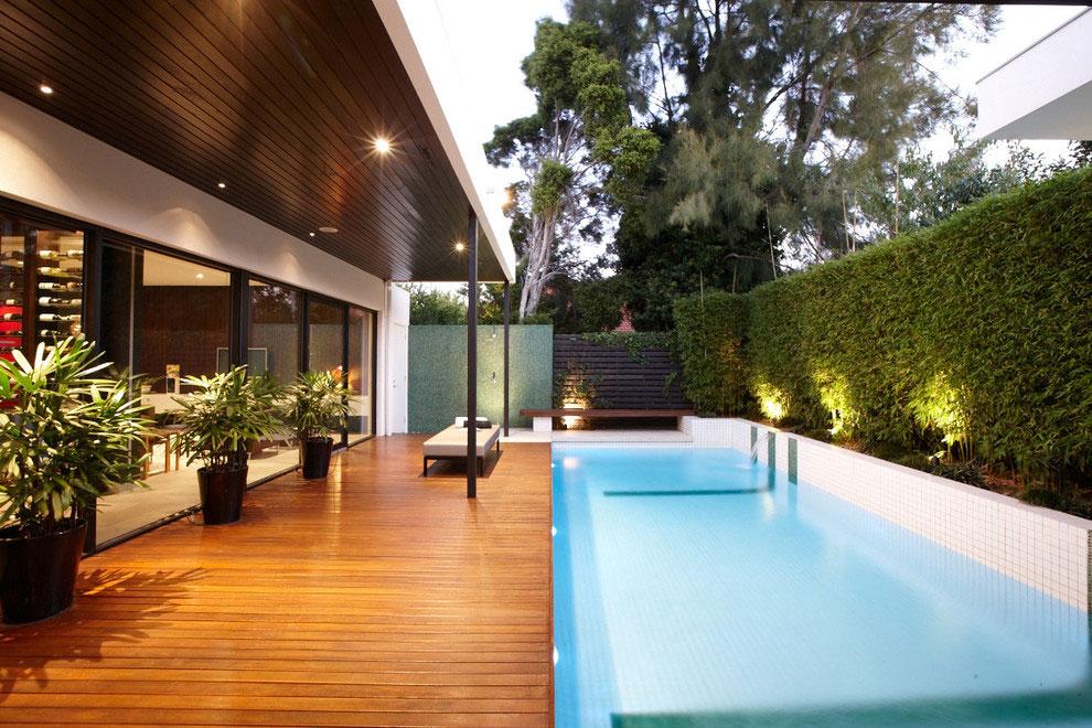 Foto della piscina dal design moderno n.07