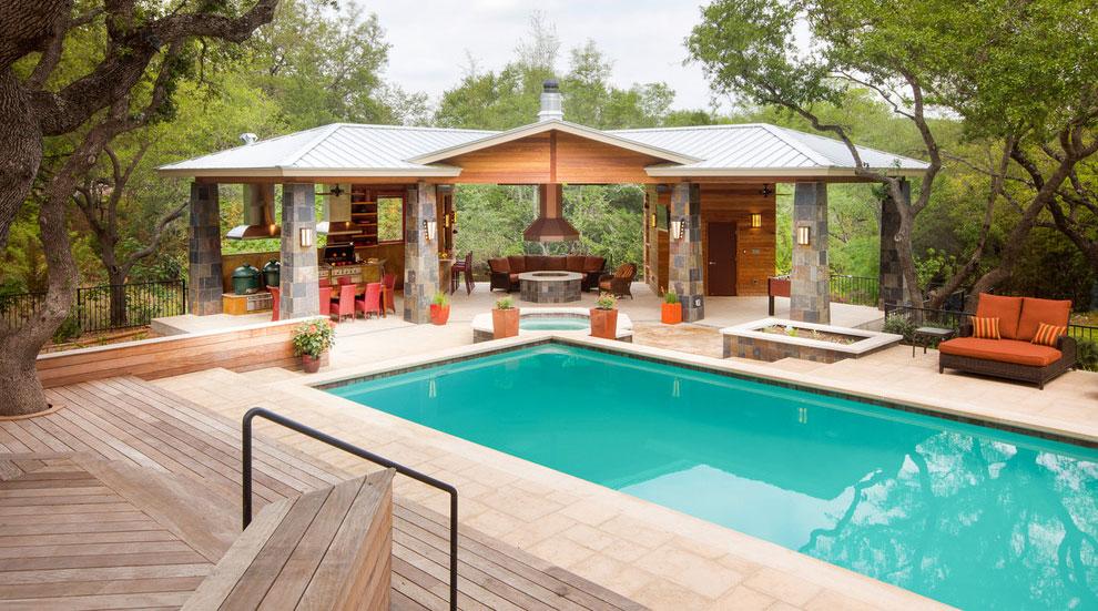 Foto della piscina dal design moderno n.09