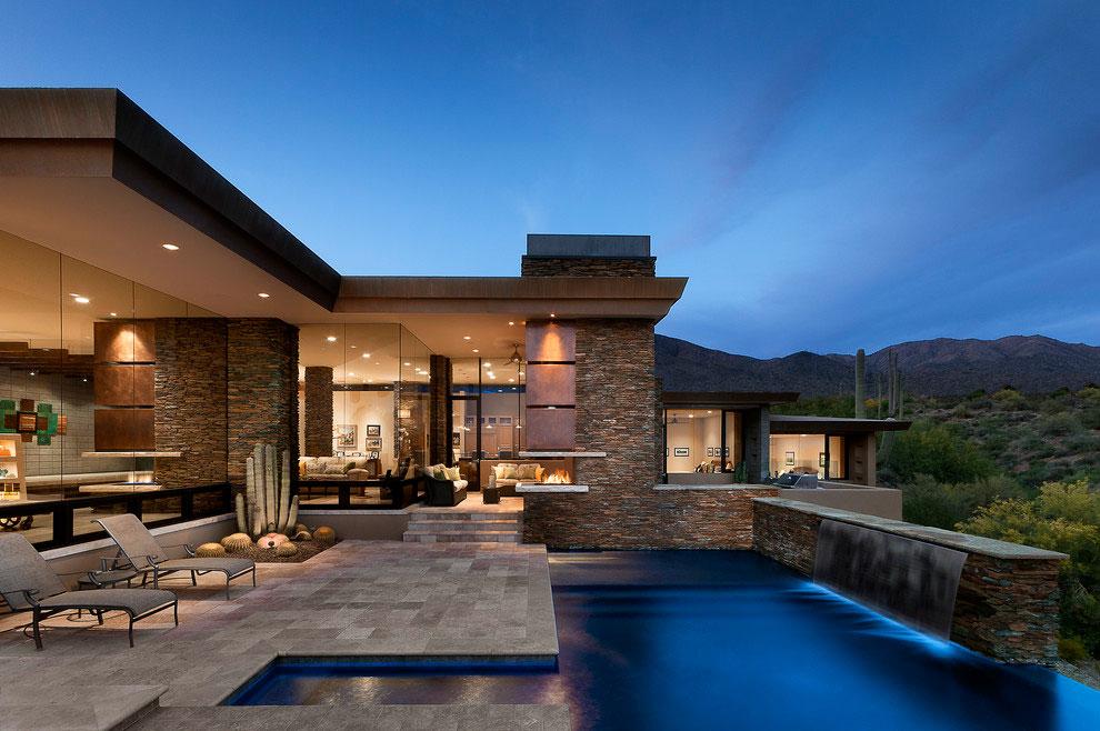 Foto della piscina dal design moderno n.10