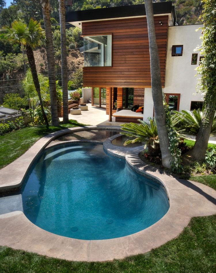 Foto della piscina dal design moderno n.11