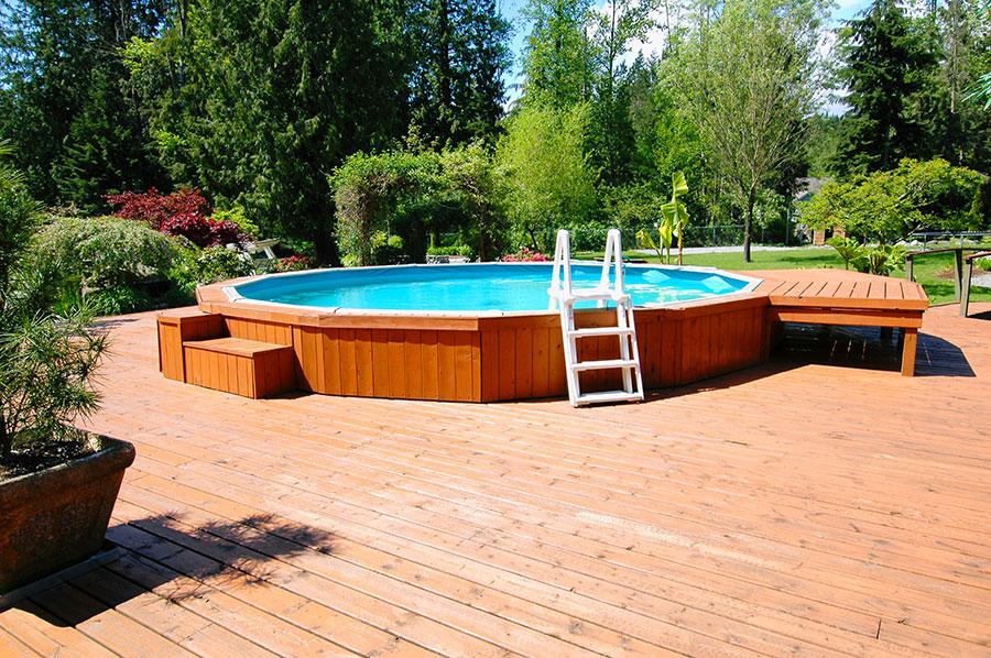 Modello di piscina moderna fuori terra n.01